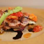 Fruttare - イベリコ豚肩ロースと季節野菜のグリル(+300にて)☆