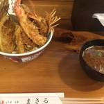 まさる - お味噌汁と江戸前天丼♬