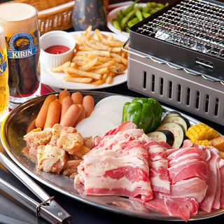 限定BBQ食べ飲み放題90分L.O3500円