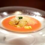 ラパルタメント ディ ナオキ - トマトのガスパチョ 帆立出汁シャーベット