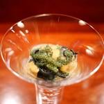 ラパルタメント ディ ナオキ - イカ墨の冷製タリオリーニ 海ブドウとウニ