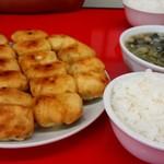 54432399 - 焼餃子20個、ワカメスープ、白飯