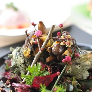 春夏秋冬の季節を表現したお料理をご提供致しております。