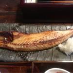 米寿 - 小名浜伴助のサバ 一夜干し 御膳 ¥1,100 サバのアップ