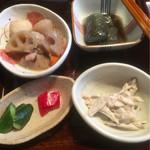 米寿 - 小名浜伴助のサバ 一夜干し 御膳 ¥1,100 小鉢4つ