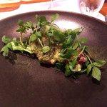 レストラン マノワ - 前菜(ハモのフリット クレソンのアイスと共に)(2016.7)