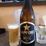 らーめん丸富 - ビール(中ビン)2016.7.31