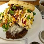 サラダレストラン Mr.&Mrs.GREEN - Mr.&Mr.sGREEN フレンチハンバーグサラダ(シェフ特製フレンチハンバーグ・サラダ・スープ・デザート・ドリンク) fromグリーンロール