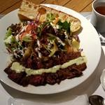 サラダレストラン Mr.&Mrs.GREEN - Mr.&Mr.sGREEN ミスターグリーンサラダ(特製グリルステーキ・サラダ・スープ・デザート・ドリンク) fromグリーンロール