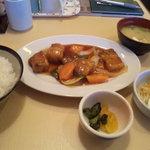 5444573 - 500円日替わり酢豚定食。