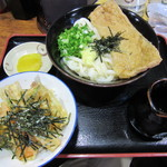 ぶっかけうどん 小野 - ぶっかけざぶとん 660円 + ミニ天丼 250円