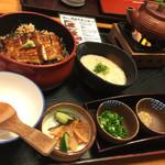 和食処 まさご - 麦とろ鰻御膳 (自然薯 )  2,400円