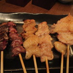 とりくら - 料理写真:お任せ5本焼き鳥 650円