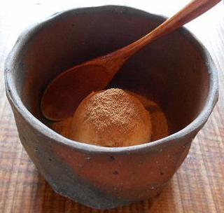 そば草香 - そばアイス 焙煎そば粉がたっぷり