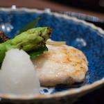 北新地 湯木 - 2016.7 焼き物 のど黒塩焼き