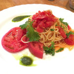 Cafe Terrasse ポコアポコ - (2016年7月)トマトの冷製パスタ(^^)
