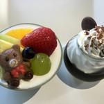 ジュジュ - 料理写真:アップルアラモード・コーヒーゼリー(2016.08現在)