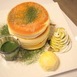 fleur - 祇園店限定 抹茶のクリーミーチョコパンケーキ