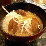 寿しまどか - ホタテの味噌汁