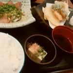 大衆居酒屋博多よかよか - 海鮮漬け定食(天ぷら付き)