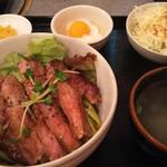 54463805 - サーロインステーキ丼セット 1000円