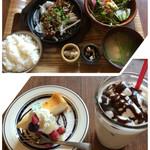 54464814 - 牛カルビ焼肉と10品目野菜のサラダ定食                       単品¥1280-  スィーツコンボSET¥1580-