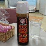 ノースカフェ - 国立国会図書館 NORTH CAFE @永田町 本日の日替ランチA 豚カツにはこのソースが用意されます