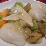 四五六菜館 - イカと季節の野菜の塩炒め