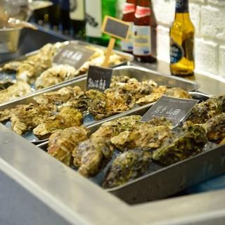 宮城が誇る三陸産「生牡蠣」と他産地の約10銘柄が食べれる!