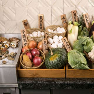 産地と季節感にこだわった食材を使用しています