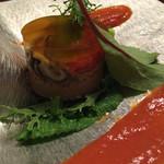 山荘無量塔 - 鳥肝のセルクルサラダ