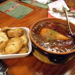 ライノスキッチン - 国産牛すじ肉のトロトロ煮込み バケット付き