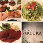 ベルドゥーラ - 前菜盛り合わせ、パスタジェノベーゼ、牛ほほ肉赤ワイン煮
