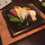 54493637 - 特選いろいろ野菜みそ石焼き