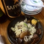 羅生門 - 瓶ビール、モツ煮込み
