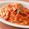 渡り蟹とズワイガニのトマトクリームソース  キタッラ