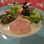 カーブドッチ - 自家製佐渡黒豚モモ肉のボイルハム 夏野菜のコンディマン