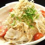 島唄ライブ 琉球 - 県産豚のサラダ