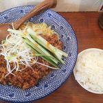 もんごいらーめん - (2016.6)汁なし冷製肉みそ餡かけ麺