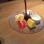 ヴィネスパ 湯楽 - 朝食 フルーツ ヨーグルト