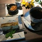 蔵のカフェ むくのき - ベトナムの家庭で食べられているバナナケーキだそうです。素朴で優しいお味でした