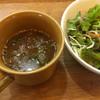 ベースカフェ - 料理写真:セットのスープとサラダ