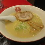 中華厨房 寿がきや - 寿がきや定食(和風とんこつラーメン) 1040円 (2016.7)