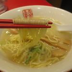 中華厨房 寿がきや - ストレートの細麺です。