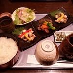 54508340 - 近江牛と琵琶鱒の旅路                       :近江を食べるというイメージ