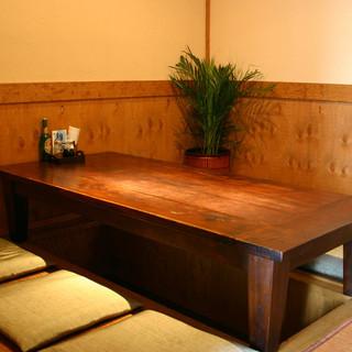 アジアンテイストの個室