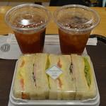 神戸屋スタッツォ - 朝食のサンドイッチをいただきました