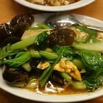 54512984 - 青菜とキクラゲと卵の甘酢あんかけ