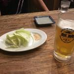 武蔵の国 - 料理写真:ビール&お通し