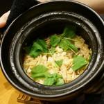 平花とんぼ - 小柱の炊き込みご飯